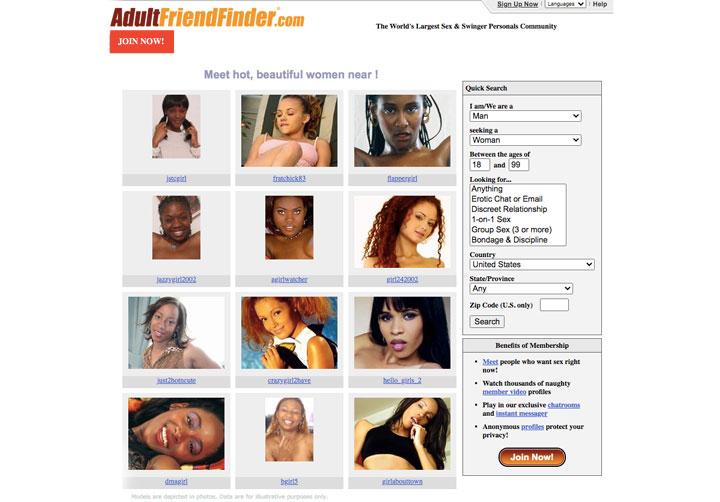 AdultFriendFinder page