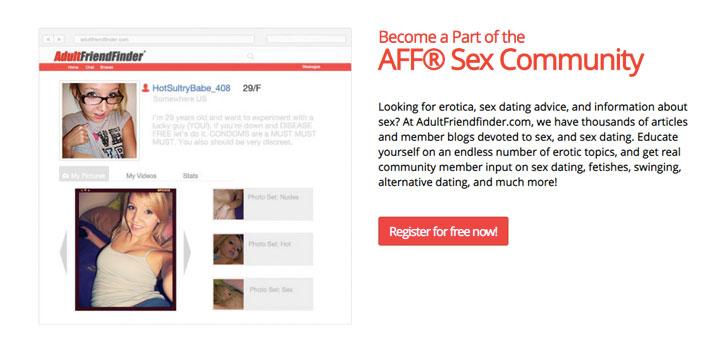 AdultFriendFinder sex community